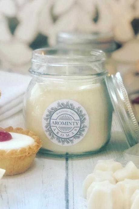 Soy Wax HANDMADE Bakewell Tart Candle Vegan Natural Gift Sustainable